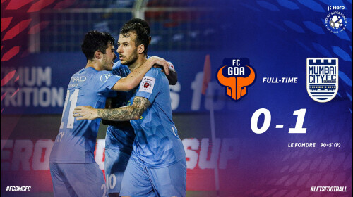 ISL 2020-21 FC GOA vs Mumbai City FC: Late Fondre winner seals tie for Mumbai over ten-men Goa